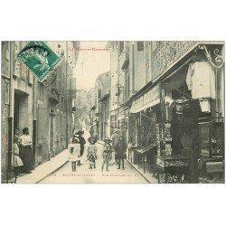carte postale ancienne 31 SALIES-DU-SALAT. Rue Compans 1910. Magasin de Cartes Postales. Galerie Moderne