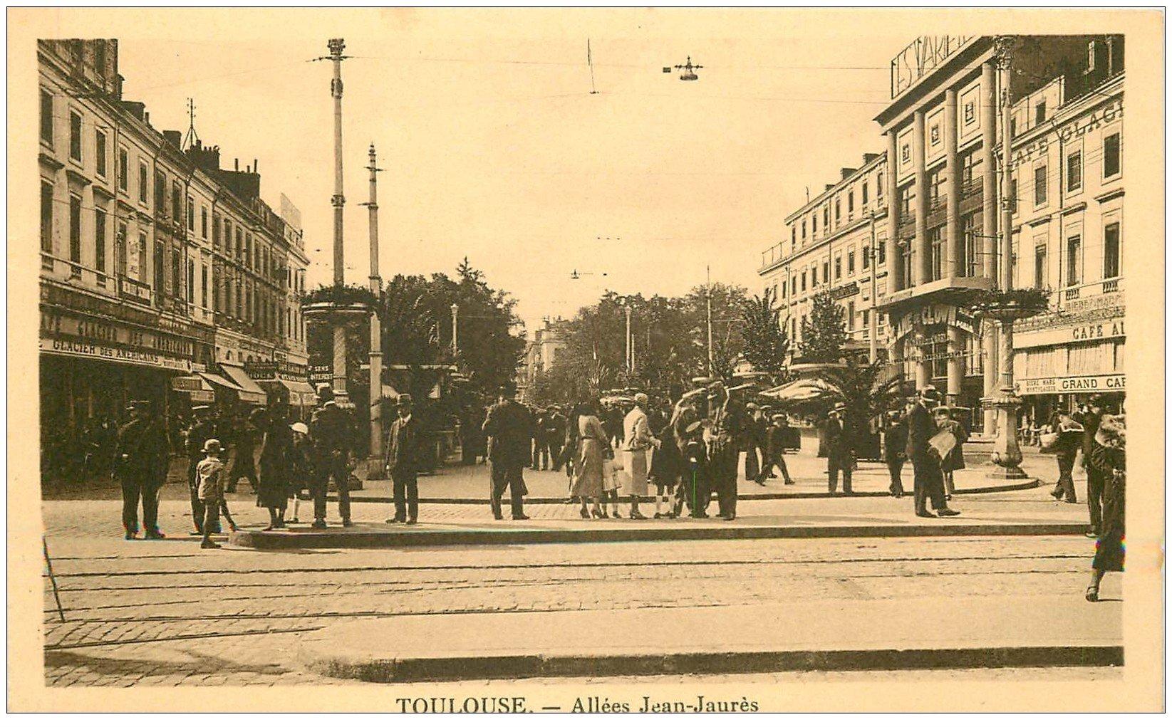 """carte postale ancienne 31 TOULOUSE. Allée Jean-Jaurès. Cinéma Variété """""""" Ame de Clown """""""""""