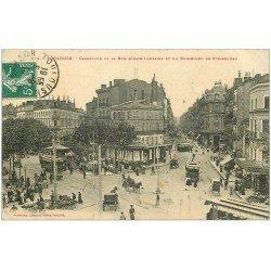 carte postale ancienne 31 TOULOUSE. Alsace-Lorraine Carrefour Boulevard de Strasbourg 1910