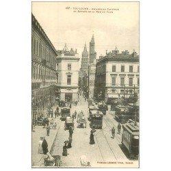 carte postale ancienne 31 TOULOUSE. Arcades Capitole Rue du Taur