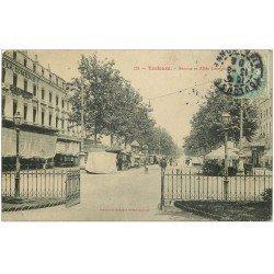 carte postale ancienne 31 TOULOUSE. Avenue et Allée Lafayette 1908. Académie de Billard de la Comédie