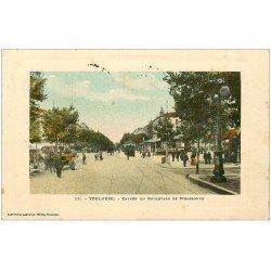 carte postale ancienne 31 TOULOUSE. Boulevard de Strasbourg 1910