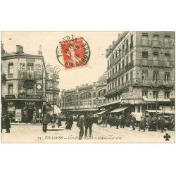 carte postale ancienne 31 TOULOUSE. Carrefour Bayard et Rue Alsace-Lorraine 1915 Tabac