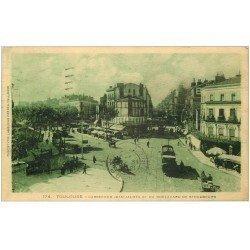 carte postale ancienne 31 TOULOUSE. Carrefour Jean-Jaurès Boulevard de Strasbourg 1930