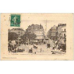 carte postale ancienne 31 TOULOUSE. Carrefour Rue Alsace-Lorraine et Boulevard Strasbourg 1910
