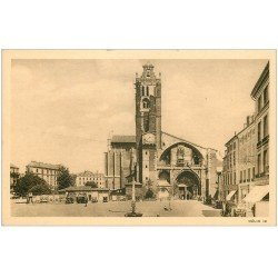 carte postale ancienne 31 TOULOUSE. Cathédrale Place Saint-Etienne
