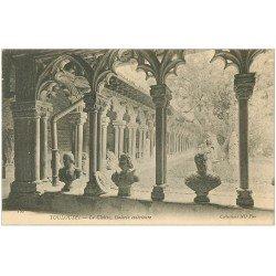 carte postale ancienne 31 TOULOUSE. Cloître Galerie