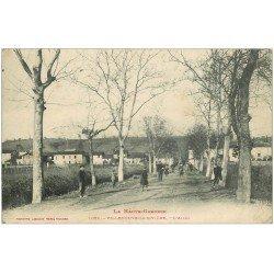 carte postale ancienne 31 VILLENEUVE-DE-RIVIERE. L'Allée 1914
