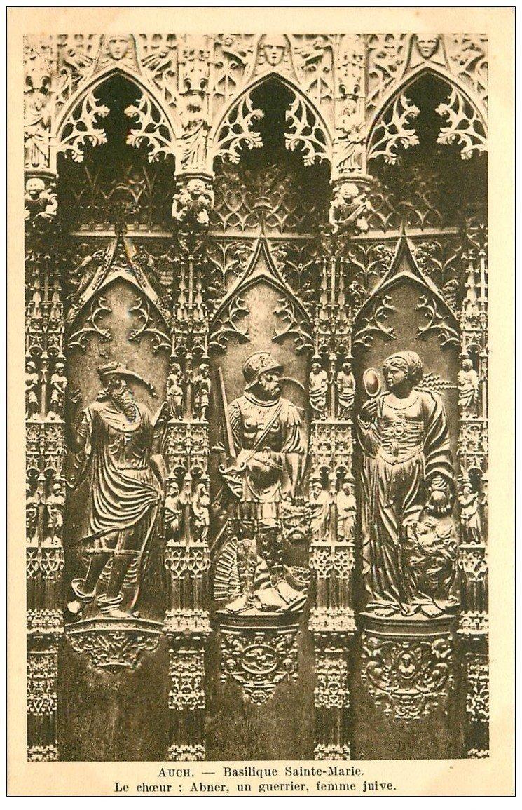 carte postale ancienne 32 AUCH. Basilique. Abner Guerrier Femme Juive