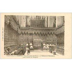carte postale ancienne 32 AUCH. Cathédrale. choeur Stalles et Orgues