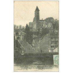 carte postale ancienne 32 AUCH. Escalier 1906