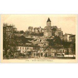 carte postale ancienne 32 AUCH. Escalier Monumentale. Bains des Tilleuls