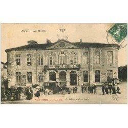 carte postale ancienne 32 AUCH. La Mairie 1907. Car Autocar Autobus