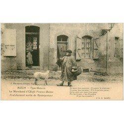 carte postale ancienne 32 AUCH. Marchand d'Oeufs Franco-Russe sortis de Ventripotaro. Vieux Métiers