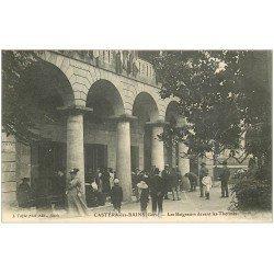 carte postale ancienne 32 CASTERA-LES-BAINS. Baigneurs aux Thermes 1907
