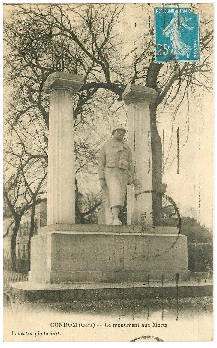 carte postale ancienne 32 CONDOM. Monument aux Morts