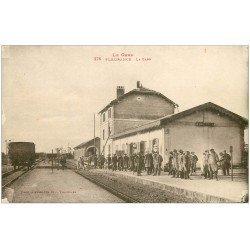 carte postale ancienne 32 FLEURANCE. La Gare