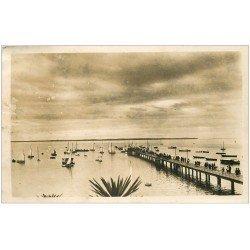 carte postale ancienne 33 ANDERNOS-LES-BAINS. La Jetée. Carte Photo Novelty