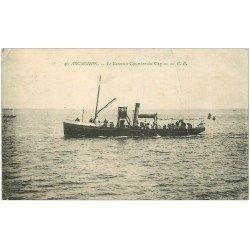 """carte postale ancienne 33 ARCACHON. Bateau """""""" Courrier du Cap """""""" 1911"""