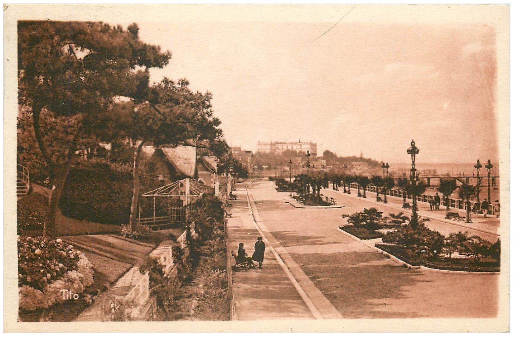 carte postale ancienne 33 ARCACHON. Boulevard Promenade 1933