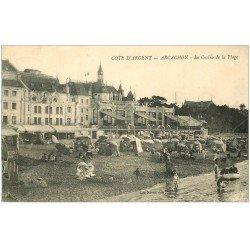 carte postale ancienne 33 ARCACHON. Casino Plage 1911