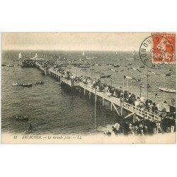 carte postale ancienne 33 ARCACHON. Grande Jetée 1913