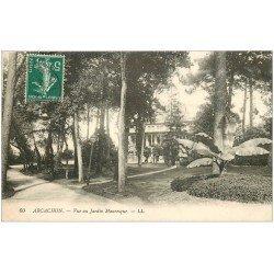 carte postale ancienne 33 ARCACHON. Jardin Mauresque