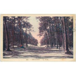 carte postale ancienne 33 ARCACHON. La Forêt 1931