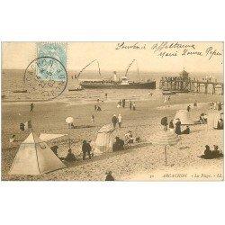 carte postale ancienne 33 ARCACHON. La Plage 1905