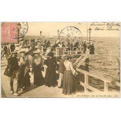 carte postale ancienne 33 ARCACHON. Nouvelle Jetée 1905