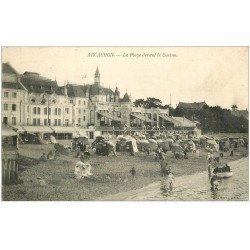 carte postale ancienne 33 ARCACHON. Page devant le Casino 1906. Timbre absent