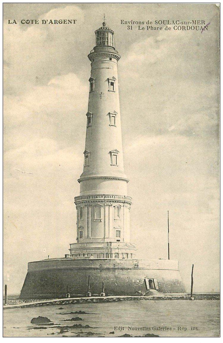 carte postale ancienne 33 ARCACHON. Phare de Cordouan 1916