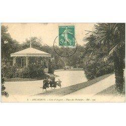 carte postale ancienne 33 ARCACHON. Place des Palmiers 1910