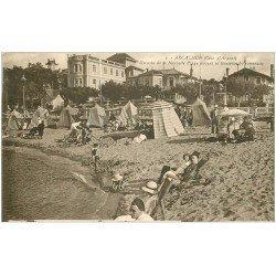 carte postale ancienne 33 ARCACHON. Plage Boulevard Promenade 1936