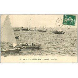 carte postale ancienne 33 ARCACHON. Régates 1911