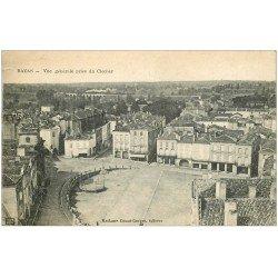 carte postale ancienne 33 BAZAS. Vue du Clocher 1919