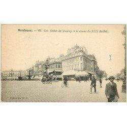 carte postale ancienne 33 BORDEAUX. Allées Tourny Cours XXX Juillet n°62