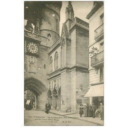 carte postale ancienne 33 BORDEAUX. Eglise Saint-Eloi rue Saint-James 1903