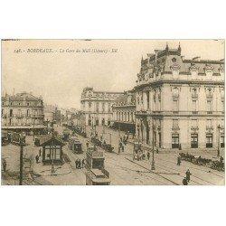carte postale ancienne 33 BORDEAUX. Gare du Midi BR 148