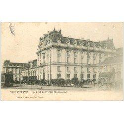 carte postale ancienne 33 BORDEAUX. Gare Saint-Jean 1904