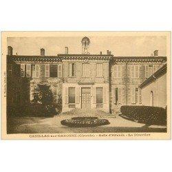 carte postale ancienne 33 CADILLAC-SUR-GARONNE. Asile d'Aliénés la Direction