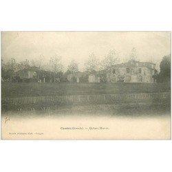 carte postale ancienne 33 CAMBES. Château Marans 1904