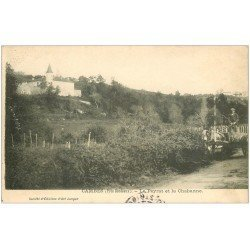 carte postale ancienne 33 CAMBES. Peyras et Chabanne attelage viticulteur 1906