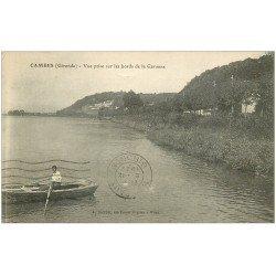 carte postale ancienne 33 CAMBES. Rameur sur la Garonne 1922