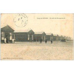 carte postale ancienne 33 CAMP DE SOUGE. Baraquements. Tampon Régiment d'Infanterie 1916