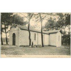 carte postale ancienne 33 CAP FERRET. Chapelle Notre-Dame des Flots