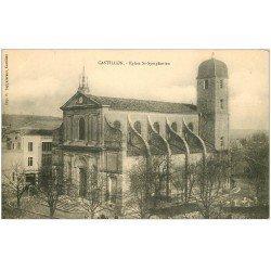 carte postale ancienne 33 CASTILLON. Eglise Saint-Symphorien. Ed Zappatereau