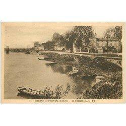 carte postale ancienne 33 CASTILLON. La Dordogne en Aval