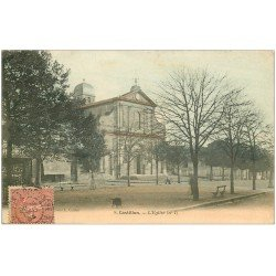carte postale ancienne 33 CASTILLON. L'Eglise 1904 en couleur