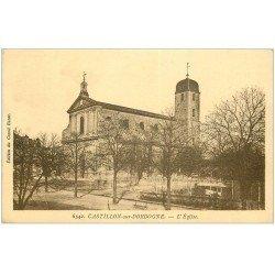 carte postale ancienne 33 CASTILLON. L'Eglise 1944